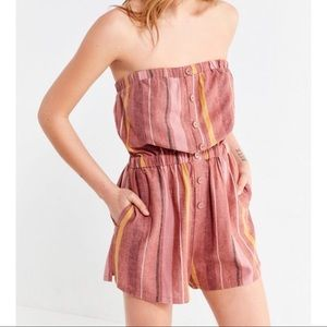 Urban Outfitters Linen Romper Small